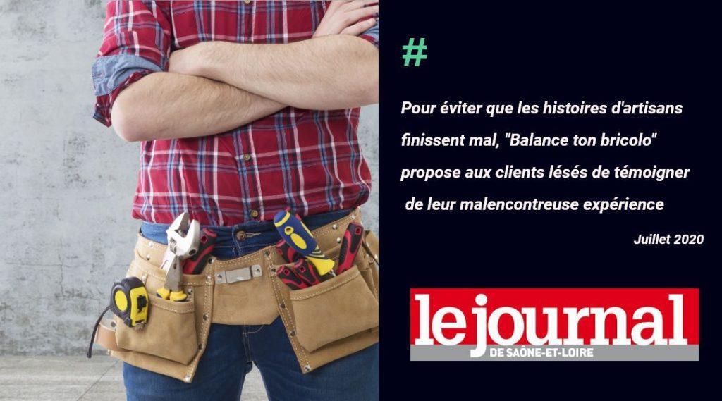 Le Journal de Saône-et-Loire recommande Balance ton Bricolo